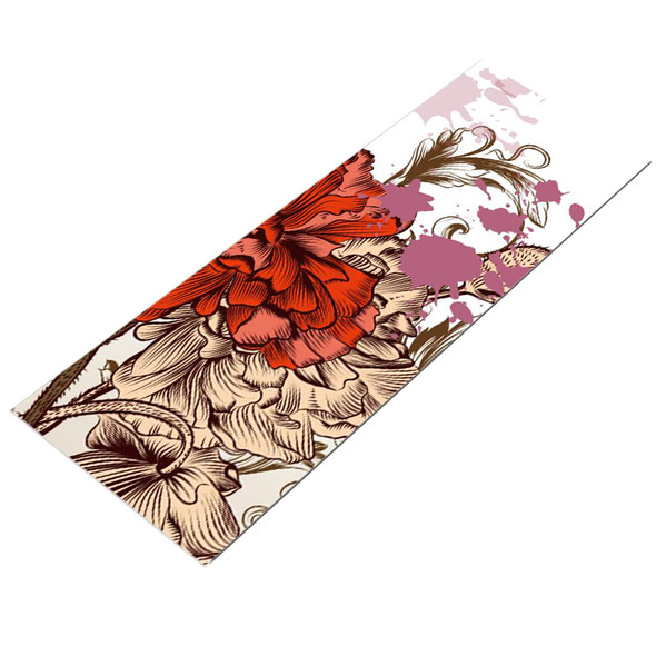 Floral Natural Suede Rubber Foldable Travel Yoga Mat