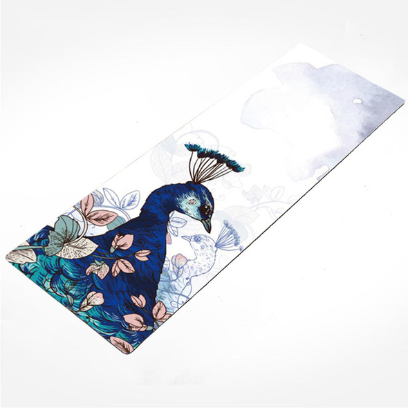 Peacock Perfect Natural Suede Rubber Foldable Travel Yoga Mat