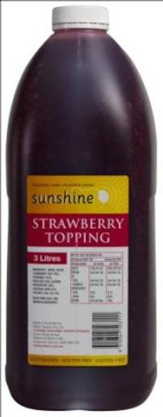 Sunshine Stawberry Topping 3l