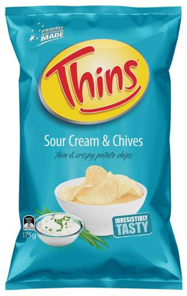 Thins Chips Sour Cream & Chives 175g