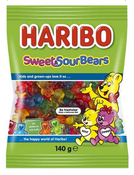 Haribo Sweet & Sour Bears 140g