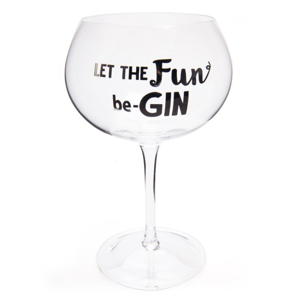 Let The Fun Be-GIN Glass