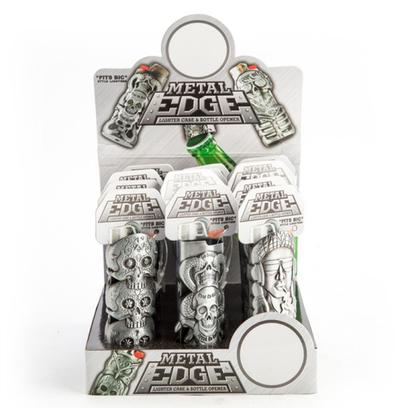 Metal Edge Lighter Case & Bottle Opener - Sent Random