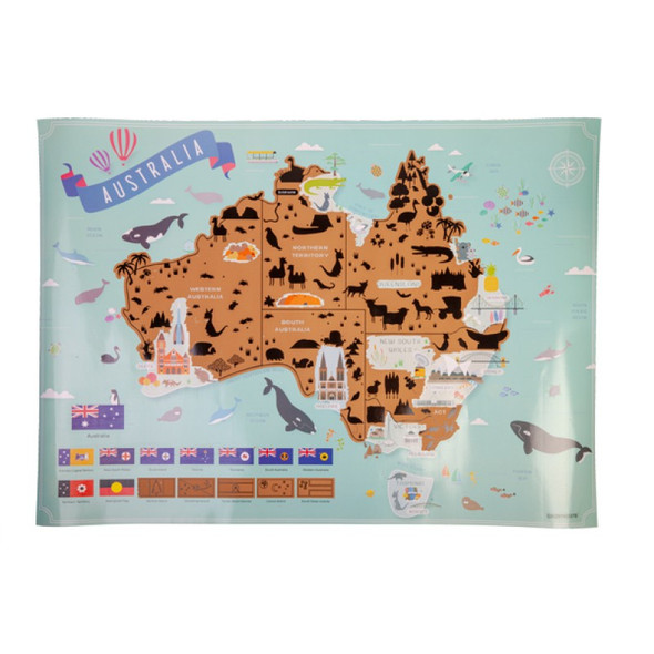 Scratch Me Away Australia Travel Map
