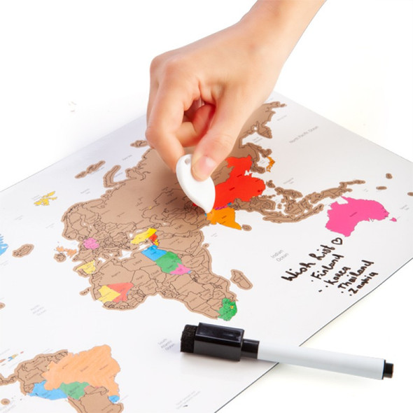 Scratch Me Away Magnetic Travel Map