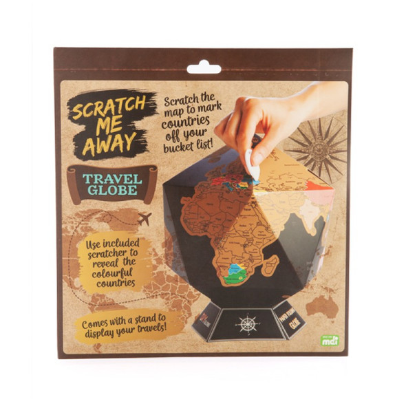 Scratch Me Away World Travel Globe