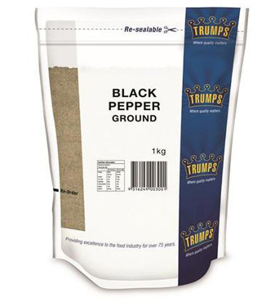 Trumps Ground Black Pepper 1kg