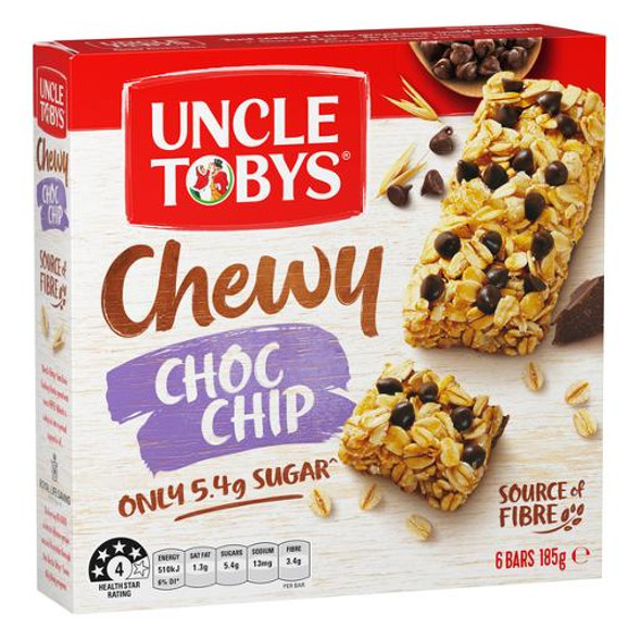 Uncle Tobys Muesli Bars Chewy Choc Chip 6 Pack