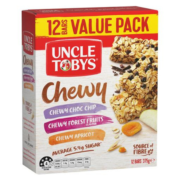 Uncle Toby Chewy Lovers Muesli Bars Variety 12 Pack