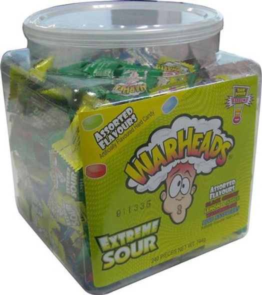 Warheads Extreme Sour Hard Candy 240 Pack
