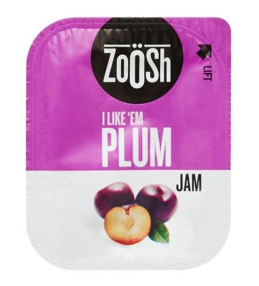 Zoosh Plum Jam Portions 50 Pack