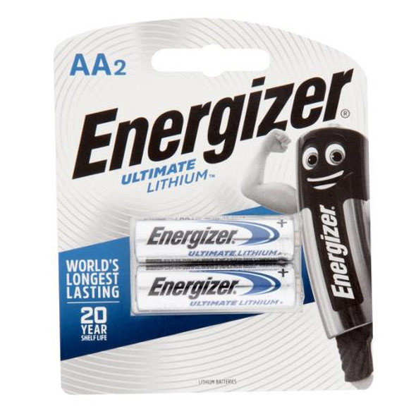 Energizer AA Lithium e2 Batteries 2 Pack