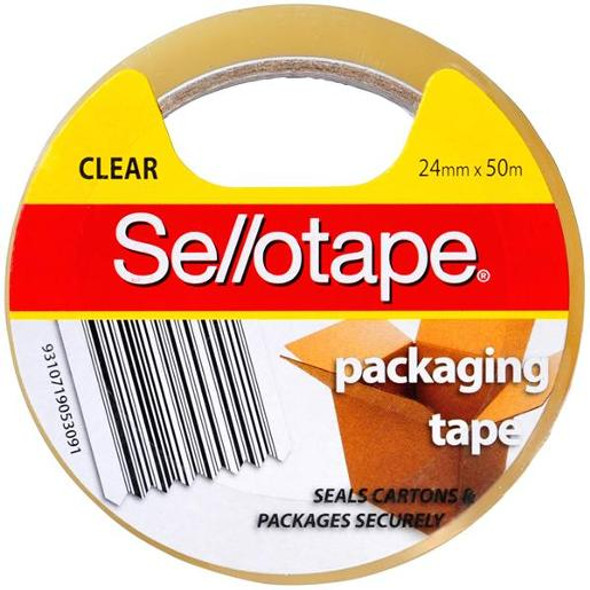 Sellotape 24mm x 50m Clear Roll Packaging Tape