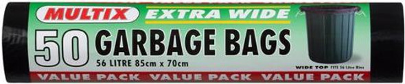 Multix Garbage Bags Extra Wide Roll 50 Pack