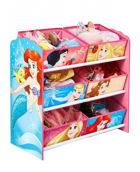 Disney Princess 6 Bin Storage Unit