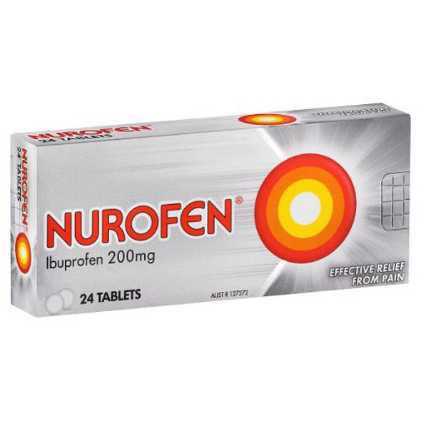 Nurofen Ibuprofen Pain Relief Tablets 200mg 24 Pack
