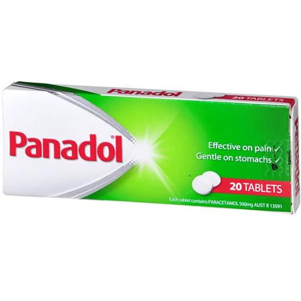 Panadol Parecetamol Pain Relief Tablets 500mg 20 Pack