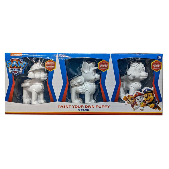 Paw Patrol Paint Your Own Puppy 3 Pack