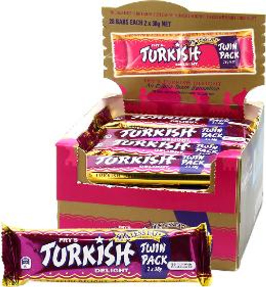 Turkish Delight Chocolate Bar Twin Pack 76g