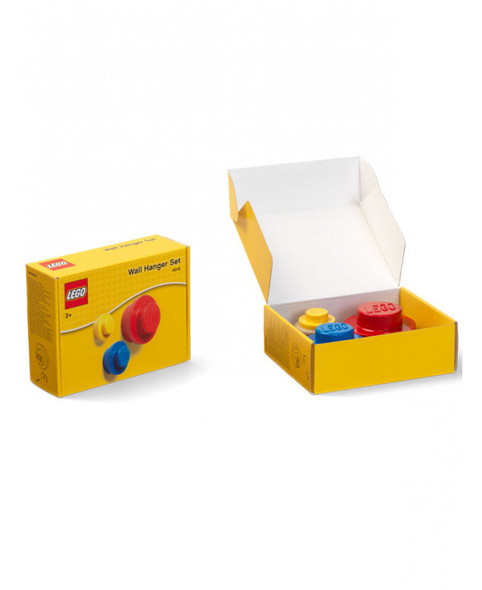 Lego 3 Piece Wall Hanger Set - Red, Blue & Yellow