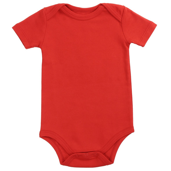 Baby Unisex Red Solid Cotton Bodysuit