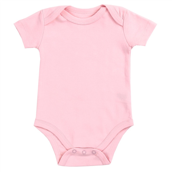 Baby Unisex Light Pink Solid Cotton Bodysuit