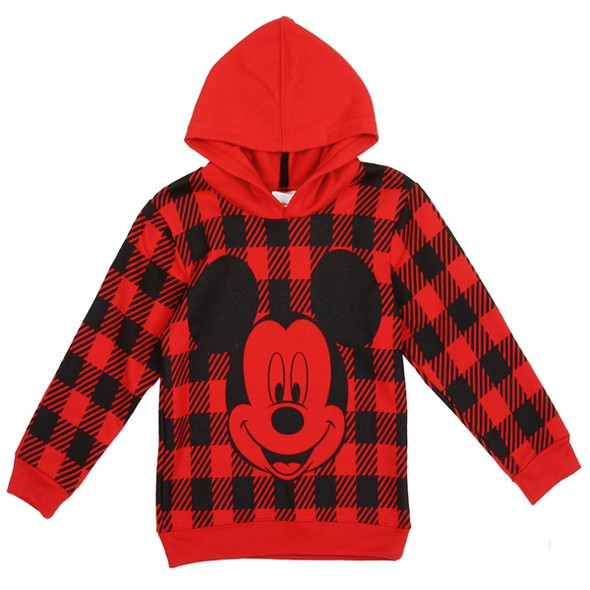 Mickey Mouse Red Boys Pullover Hoodie