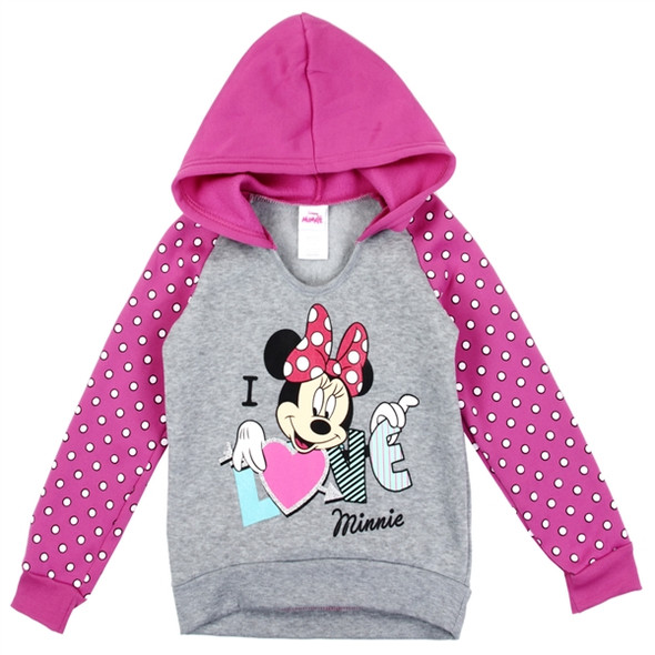 Minnie Mouse Girls I Love Minnie Pullover Hoodie
