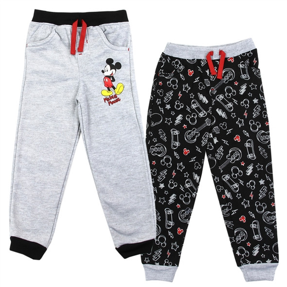 Mickey Mouse Boys 2-Pack Multi Colour Fleece Track Pant