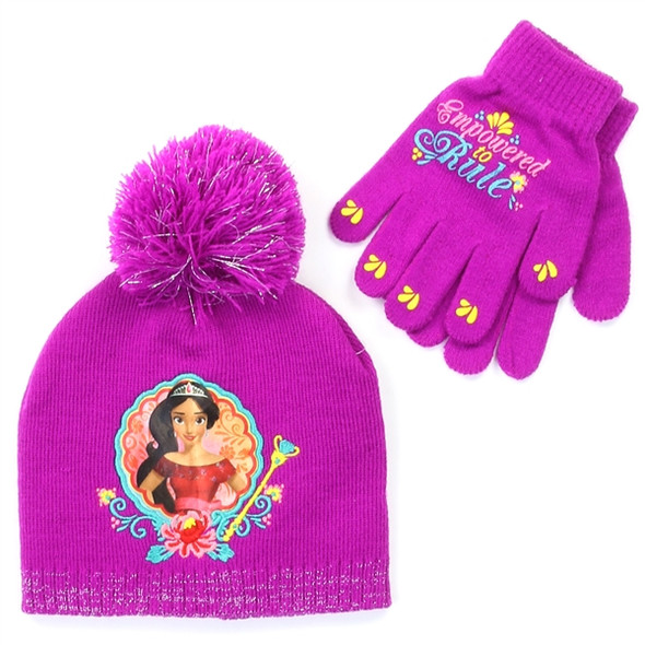 Girls Disney Winter Hat & Mittens Set