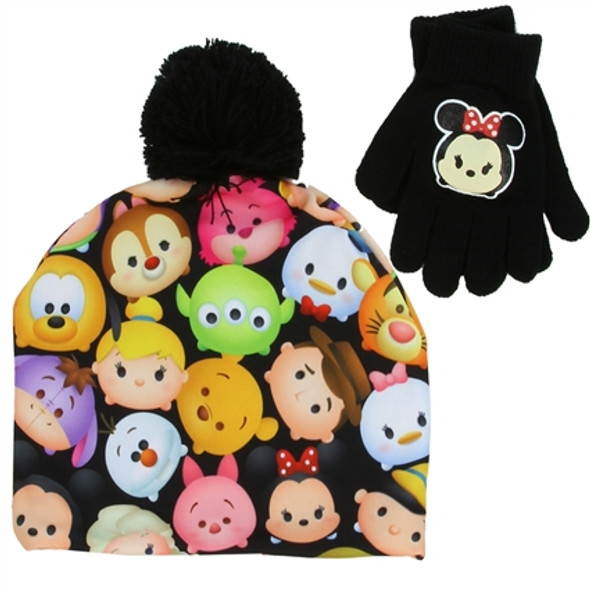 Tsum Tsum Girls Winter Hat & Gloves Set