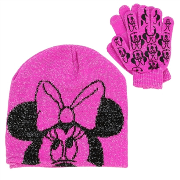 Minnie Mouse Girls Winter Hat & Gloves Set