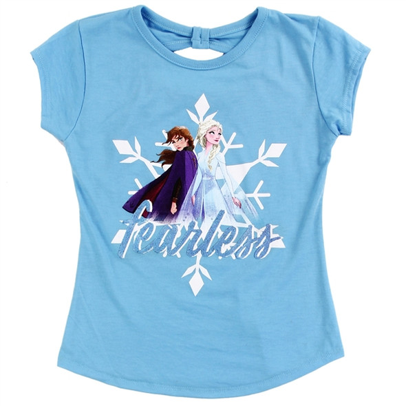 Frozen Girls Blue Fearless T-Shirt