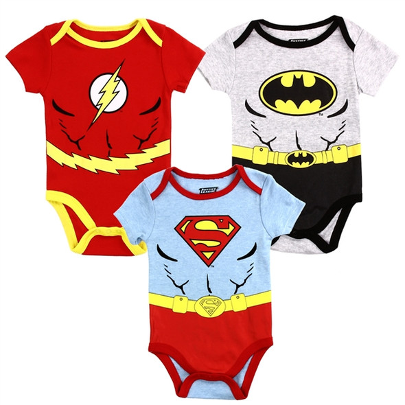 Baby Boys New Born Justice League  Bodysuit 3 Pack