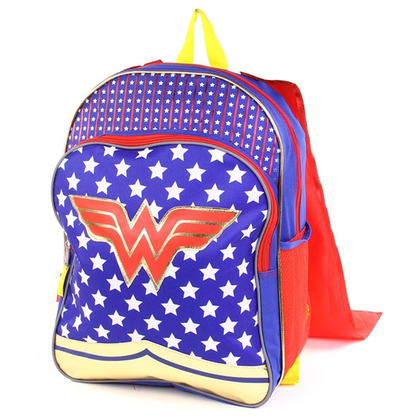"""Wonder Woman 16"""" Specialty Backpack with Cape"""