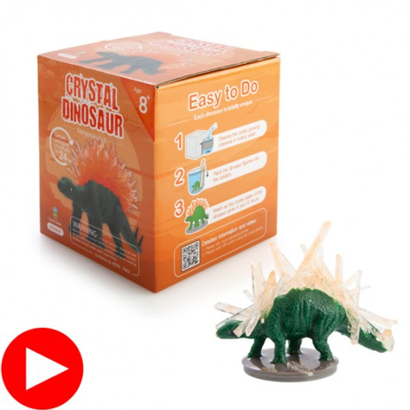 Orange Crystal Dino Stegosaurus