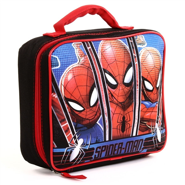 Spiderman Black Insulated Lunch Bag