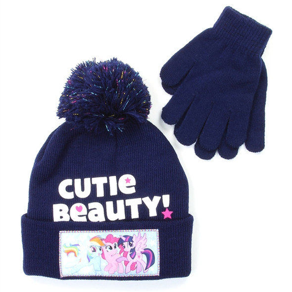 My Little Pony Girls Winter Hat & Gloves Set