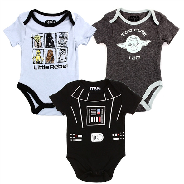 Baby Boys New Born Star Bodysuit 3 Pack
