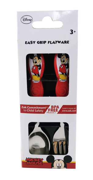 Mickey Mouse 2pce Stainless Steel Cutlery Set