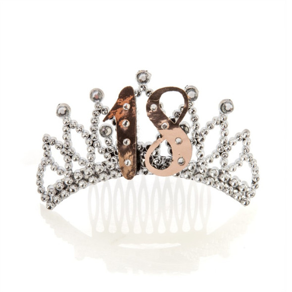 18th Rose Gold and Silver Tiara