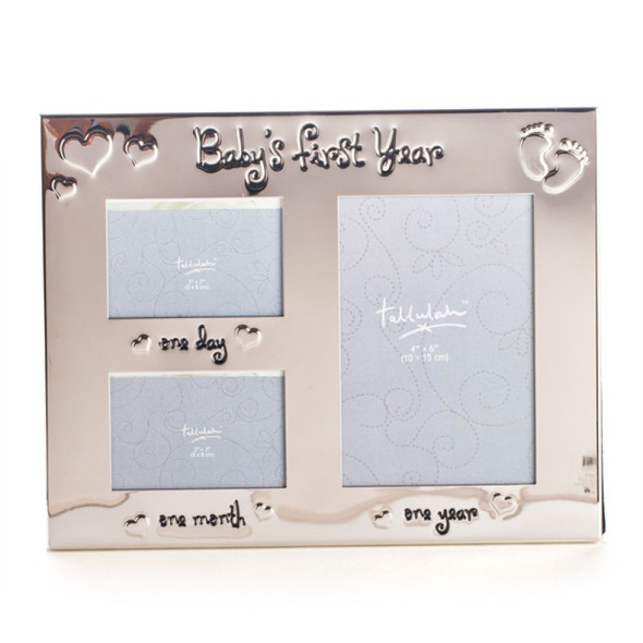 Baby's First Year Silver Tallulah Photo Frame