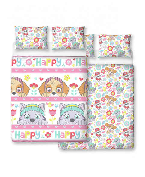 Paw Patrol Bright Double Duvet Cover And Pillowcase Set