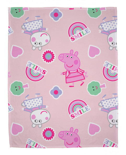 Peppa Pig Icon Fleece Blanket