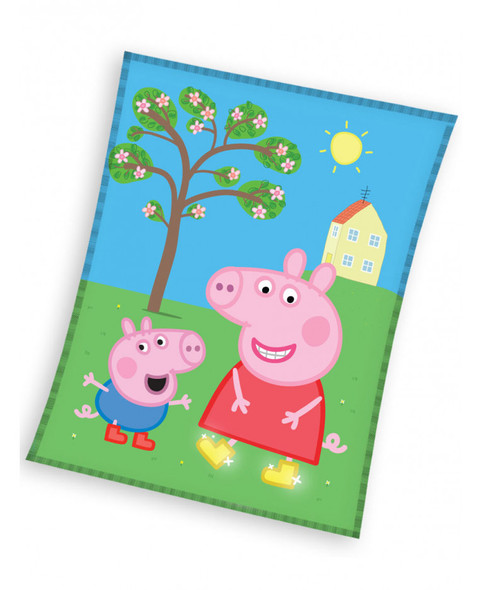 Peppa Pig Smile Fleece Blanket