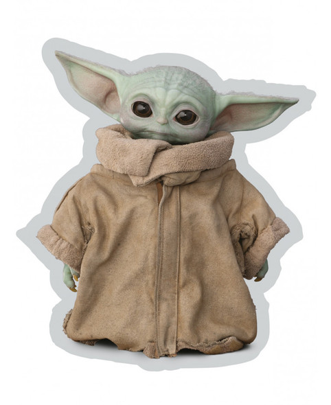 Star Wars Mandalorian Baby Yoda Shaped Cushion