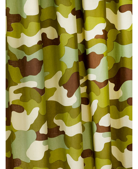 Army Camouflage Lined Curtains 168cm x 183cm
