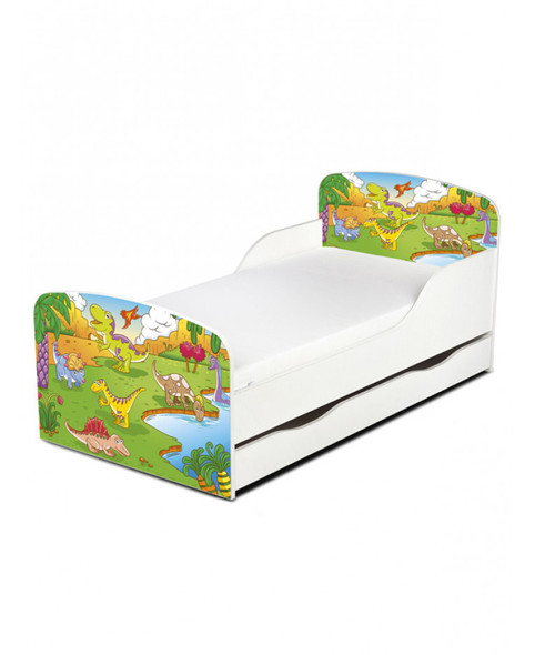 Dinosaur Toddler Bed With Underbed Storage