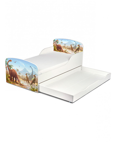 Jurassic Dinosaurs Toddler Bed With Underbed Storage