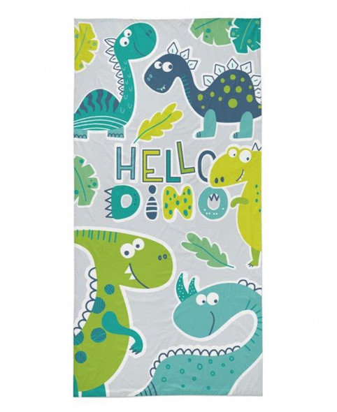 Hello Dino Beach Towel